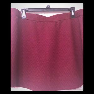CANDIE'S burgundy red Skirt W/elastic waist band